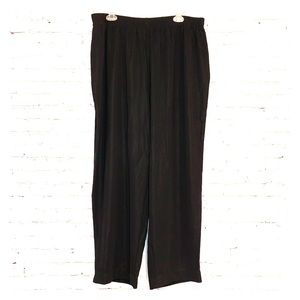 NWT Susan Graver Black Wide Leg Pull On Pants